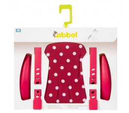 Qibbel Stylingset Luxe Voorzitje Polka Dot Rood